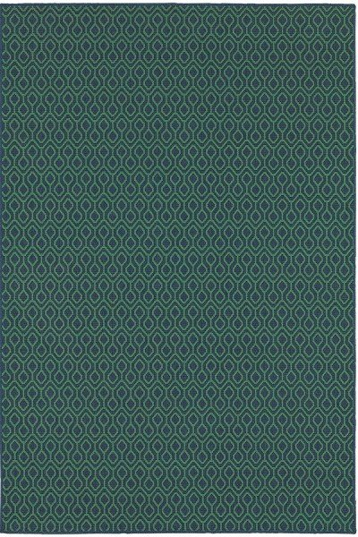 Navy, Green Transitional Area Rug