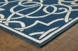 Product Image of Navy, Ivory Moroccan Area Rug