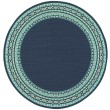 Product Image of Navy, Green Bordered Area Rug