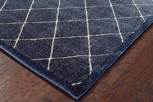 Navy, Ivory (0Q4) Transitional Area Rug