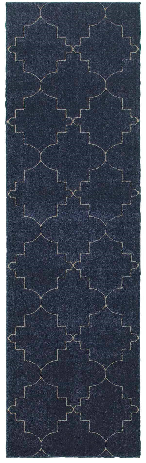 Navy, Ivory (5994B) Transitional Area Rug