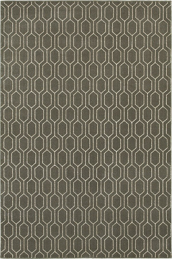 Grey, Ivory (8021D) Transitional Area Rug