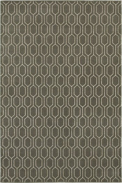 Grey, Ivory (8021D) Contemporary / Modern Area Rug