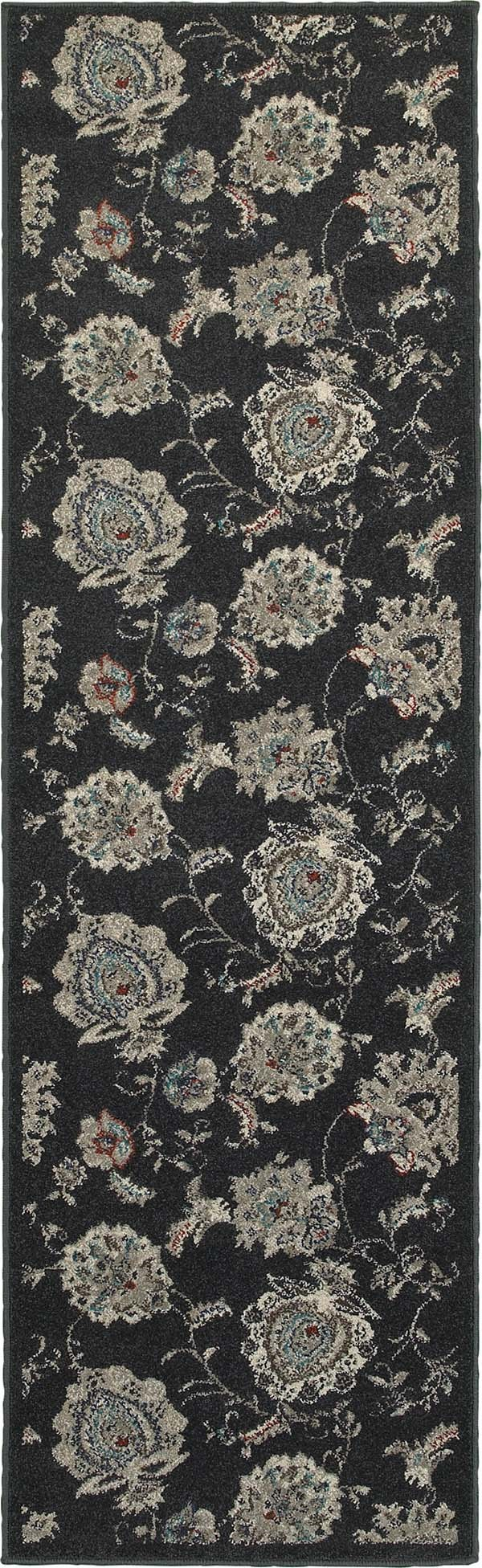 Midnight, Ivory Traditional / Oriental Area Rug