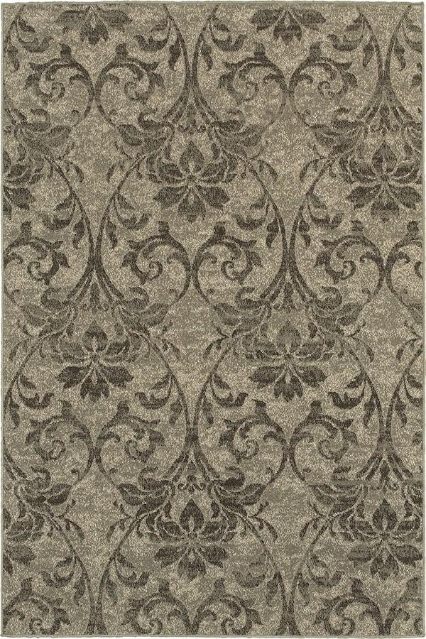 Grey, Ivory Transitional Area Rug
