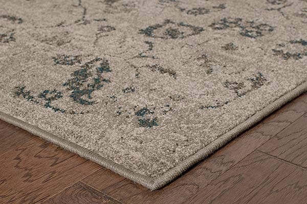 Beige, Grey (D) Traditional / Oriental Area Rug