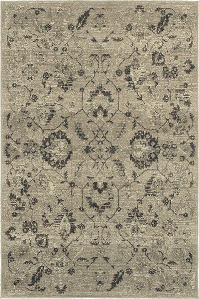 Beige, Grey (D) Traditional / Oriental Area Rug