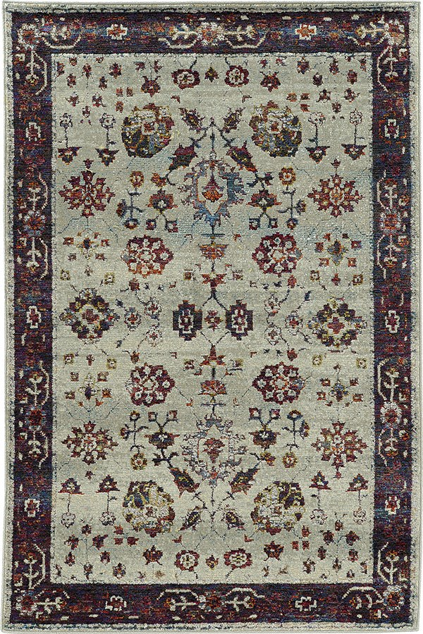 Stone, Red Traditional / Oriental Area Rug