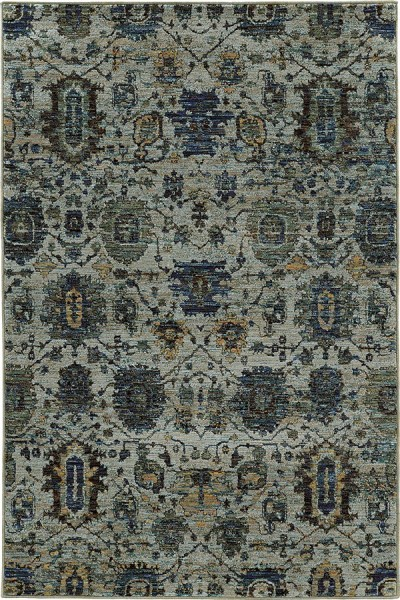Blue, Navy Traditional / Oriental Area Rug