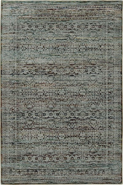Blue, Purple Traditional / Oriental Area Rug