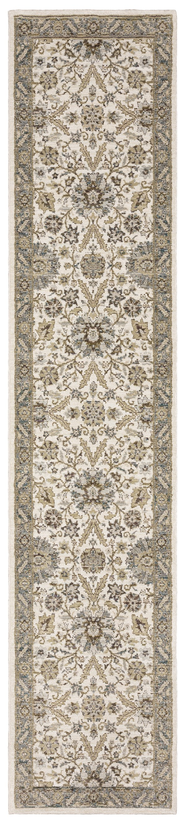 Stone, Ivory Traditional / Oriental Area Rug