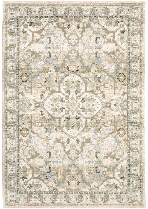 Beige, Ivory Persian Area Rug