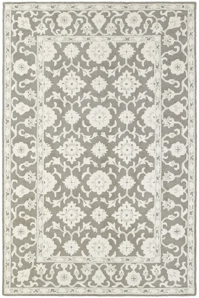 Grey, Stone Traditional / Oriental Area Rug