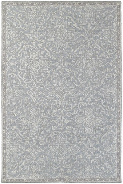 Grey, Blue Traditional / Oriental Area Rug