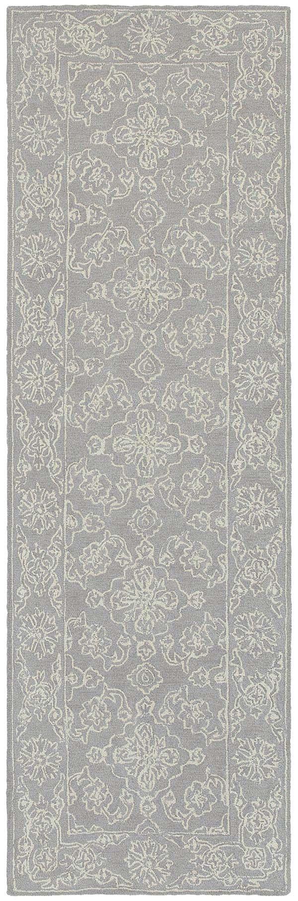 Grey, Stone Traditional / Oriental Area Rug