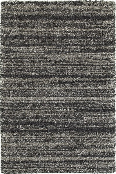 Grey, Charcoal Shag Area Rug