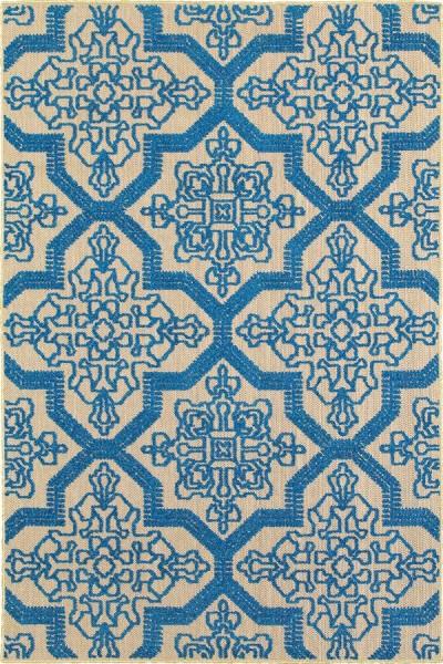 Sand, Blue (M) Outdoor / Indoor Area Rug