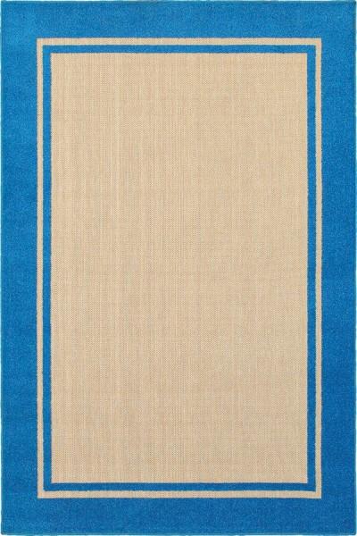 Sand, Blue (B) Outdoor / Indoor Area Rug