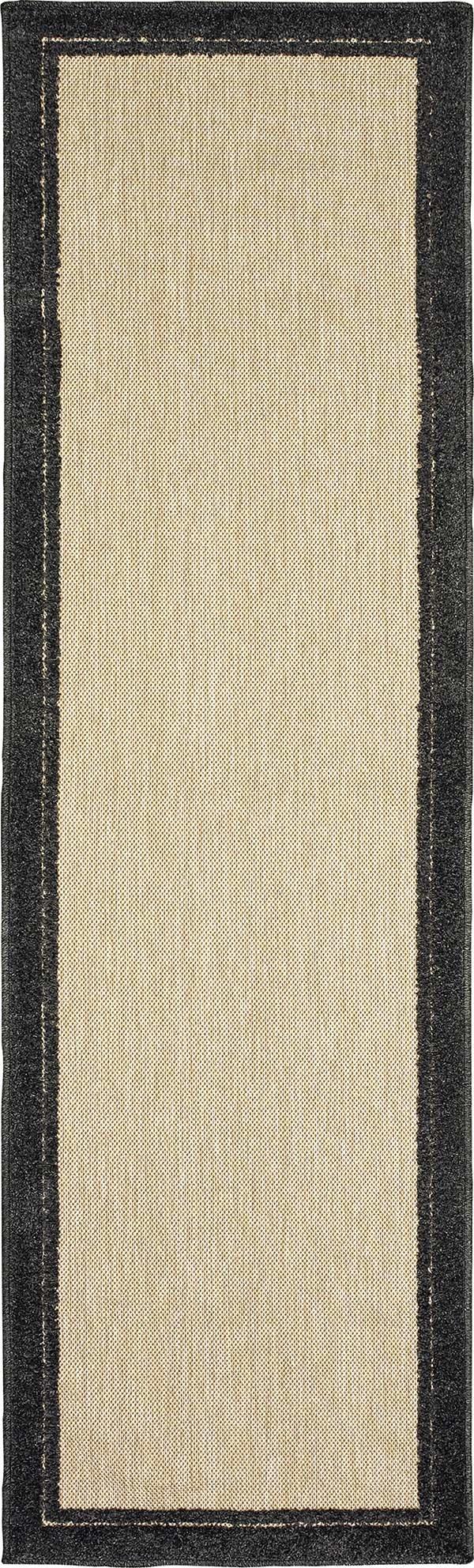 Sand, Charcoal (K) Outdoor / Indoor Area Rug