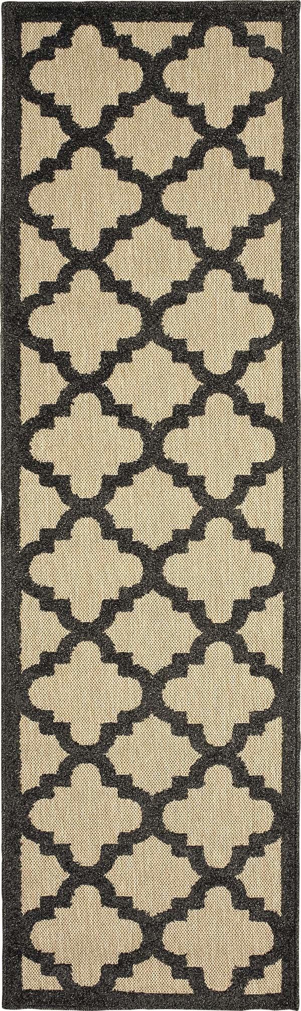 Sand, Charcoal (N9) Outdoor / Indoor Area Rug