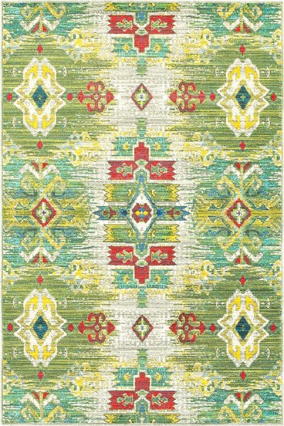 Stone, Green Traditional / Oriental Area Rug