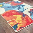 Product Image of Ivory, Red, Blue, Yellow Abstract Area Rug