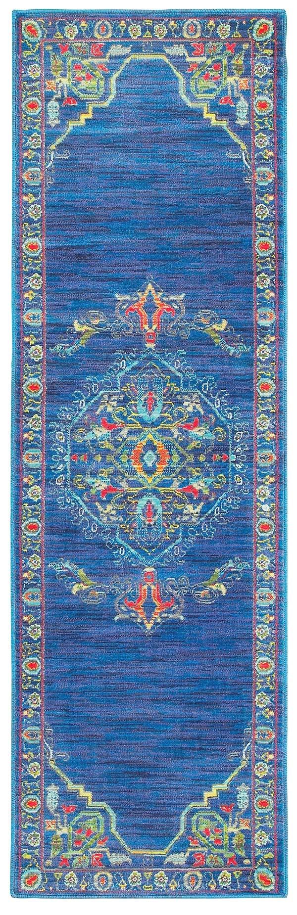 Blue, Green (B) Traditional / Oriental Area Rug