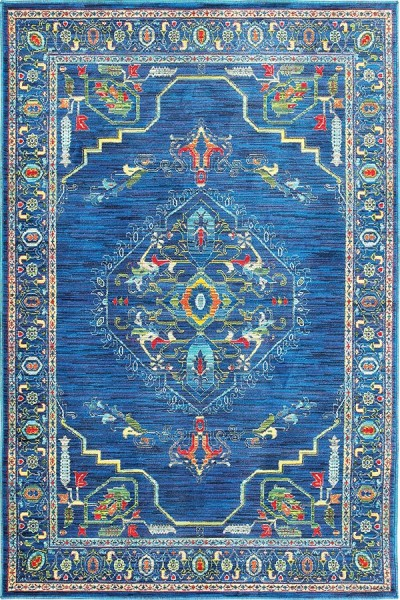Blue, Green (B) Traditional / Oriental Area Rug