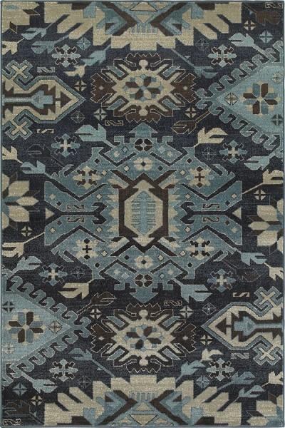 Navy, Blue (A) Bohemian Area Rug