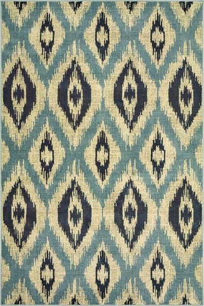 Blue, Grey (C) Bohemian Area Rug
