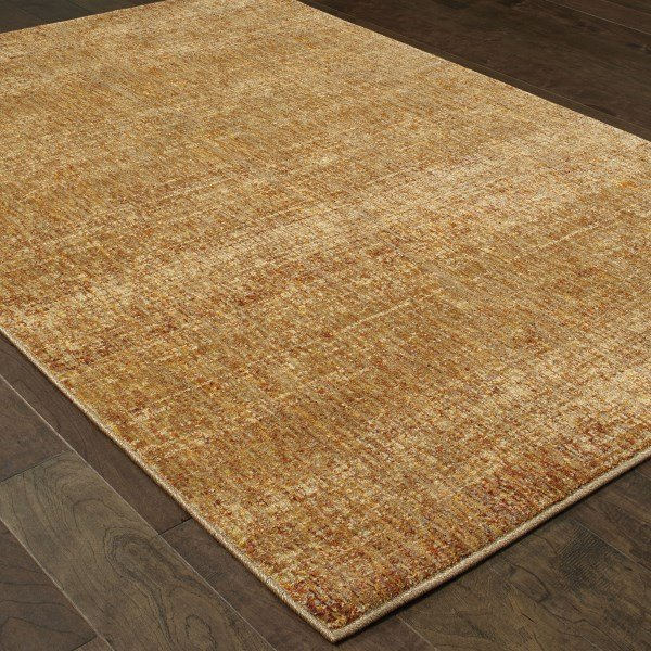 Gold, Yellow (R) Contemporary / Modern Area Rug