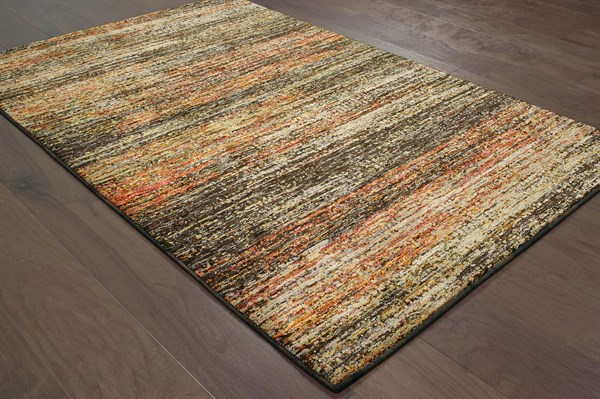 Charcoal, Gold (C) Casual Area Rug