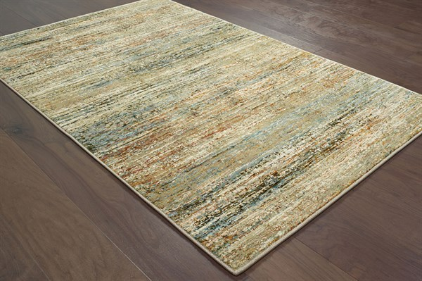 Green, Gold (J) Casual Area Rug
