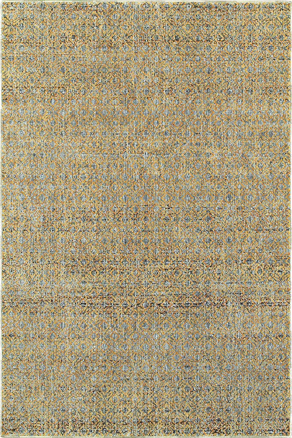 Blue, Gold (B) Casual Area Rug
