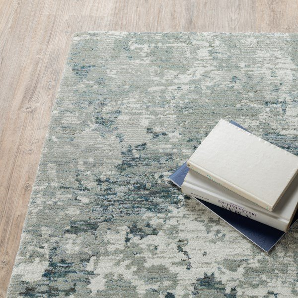 Grey, Blue Contemporary / Modern Area Rug