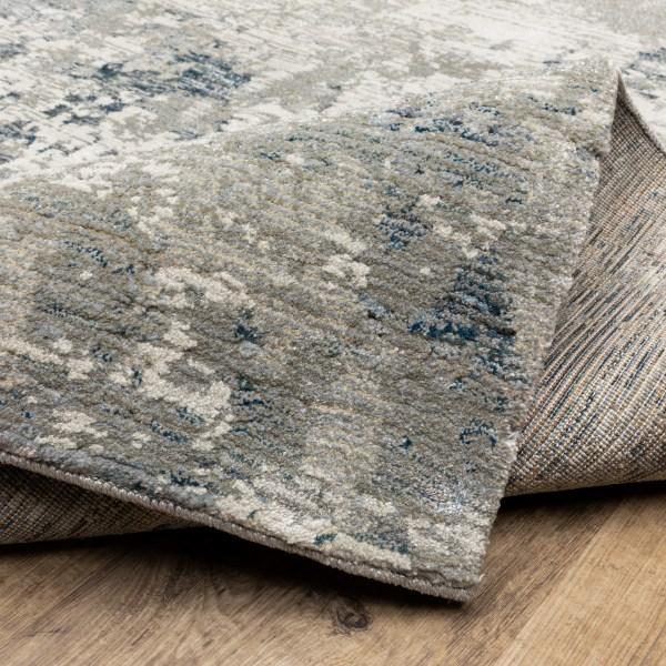 Grey, Blue Contemporary / Modern Area Rug