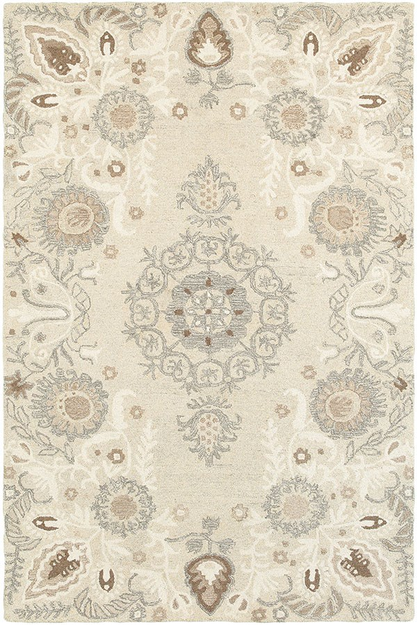 Sand, Ash Traditional / Oriental Area Rug