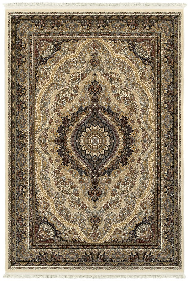 Ivory (W2) Traditional / Oriental Area Rug