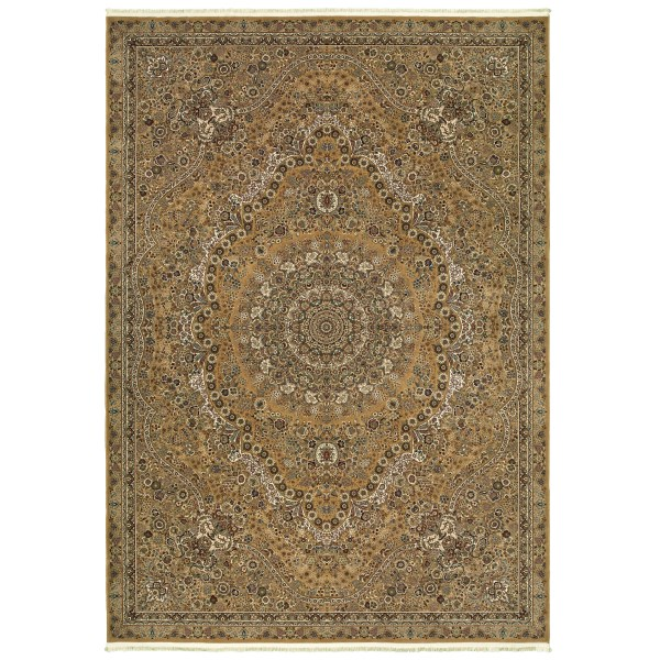 Gold, Ivory (J) Traditional / Oriental Area Rug