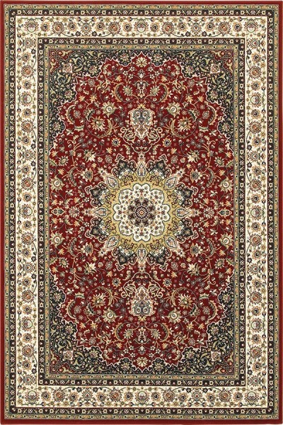 Red, Ivory (N1) Traditional / Oriental Area Rug