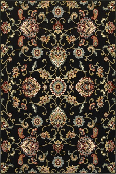 Black (K) Traditional / Oriental Area Rug