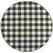 Product Image of Black, Ivory Outdoor / Indoor Area Rug