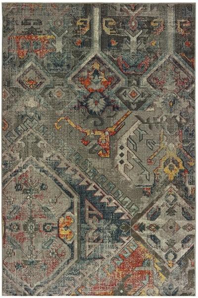 Grey (X) Moroccan Area Rug