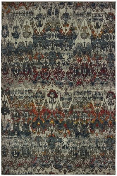 Grey (V) Moroccan Area Rug