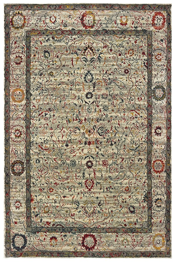 Ivory (W) Traditional / Oriental Area Rug