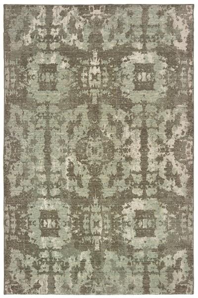 Grey, Green (E) Moroccan Area Rug