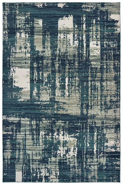 Blue, Grey (B) Abstract Area Rug