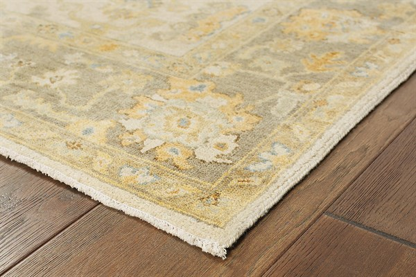Beige, Grey Traditional / Oriental Area Rug