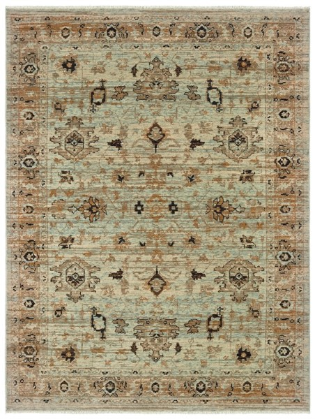 Blue, Gold (H) Traditional / Oriental Area Rug