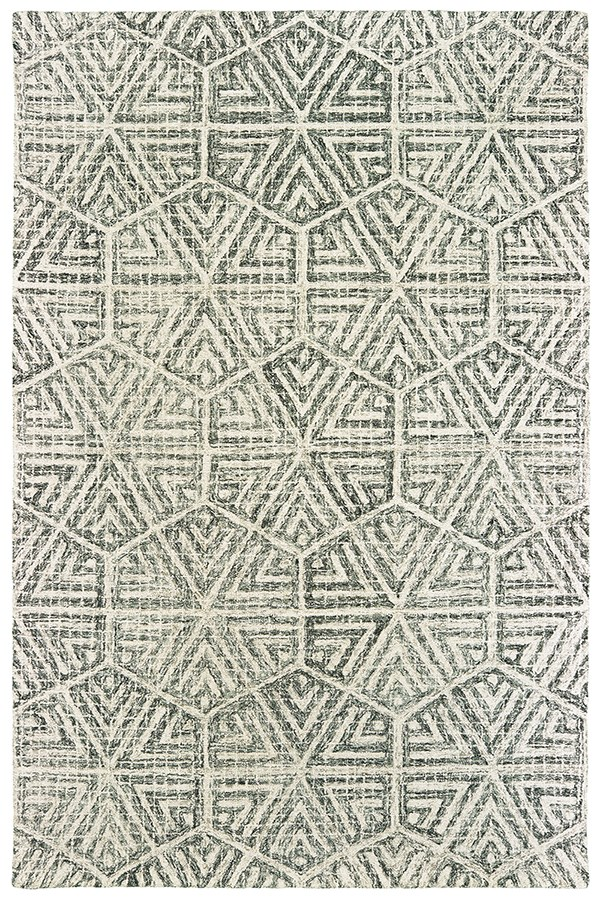 Grey, Ivory Moroccan Area Rug